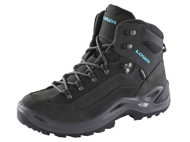 Lowa Renegade GTX Mid Boots Women anthracite/turquoise